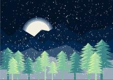 Ideen-Designvektor des abstrakten Schablonenhintergrundbeschaffenheitsschneeglühens blauer dunkler Nacht Stockfotografie