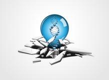 Ideen-DNA-Sprungs-Vektor Lizenzfreies Stockfoto