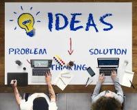 Ideen-Innovations-Glühlampen-Ikonen-Konzept Lizenzfreie Stockfotografie