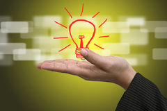 Ideen-Innovations-Konzept Stockfoto