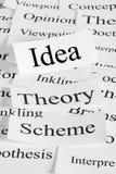 Ideen-Konzept Stockbild