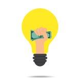 Ideen-Konzept verdienen Geld Stockfotografie
