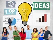 Ideen-Kreativitäts-Diagramm-Inspirations-Gedanken-Internet-Konzept Lizenzfreies Stockfoto