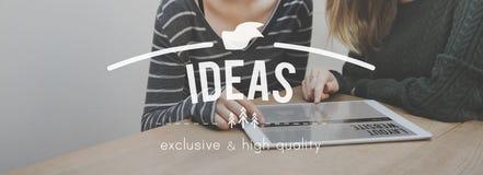 Ideen-Kreativitäts-Gedanken-Fantasie-Inspirations-Plan-Konzept Lizenzfreie Stockfotos