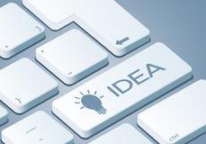 Ideen-Schlüssel - Tastatur mit Illustration des Konzeptes 3D vektor abbildung