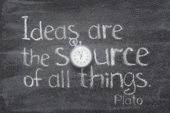 Ideen sind die Quelle stockfotos