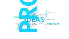 Ideen, Typografieanimation stock abbildung
