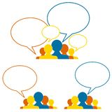 Ideen und Zusammenarbeit Lizenzfreie Stockbilder