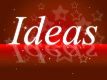 Ideen-Wort-Shows denken an es und Betrachtung stock abbildung