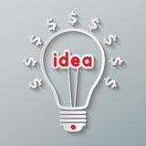 Ideenbirne Lizenzfreies Stockfoto