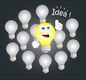 Ideenbirne Stockfotografie