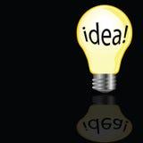 Ideenbirne in der gelben Farbe Stockfoto