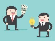 Ideengeschäft, zum des Geldes zu verdienen Stockfotos