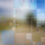 Ideenhintergrund von mehrfarbigen Quadraten und von Rechtecken Stockfotos