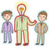 Ideenkonzept - führender Vertreter der Wirtschaft Stockfotos