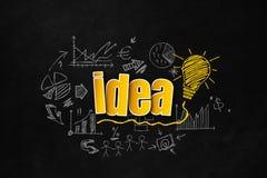 Ideenkonzept für Geschäft Stockfoto