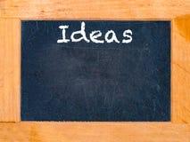 Ideenkreidebrett Stockbild