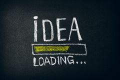 Ideenladen - Skizzenkonzept auf Tafel lizenzfreies stockfoto