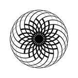 Ideenlogo-Ikonenvektor Das Kreismuster wird benutzt, um Teller, Kleidung und andere Zwecke zu entwerfen Geometrische Ikone Vektor stock abbildung