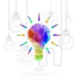 Ideenpolygon bunt Stockfoto