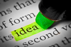 Ideentexthöhepunkt Lizenzfreies Stockbild