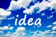 Ideenwolken Stockfoto