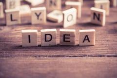 Ideenwort Lizenzfreie Stockfotos