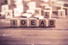 Ideenwort Lizenzfreie Stockbilder
