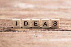 Ideenwort Lizenzfreies Stockfoto