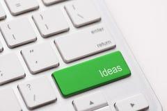 Ideenwort auf Tastatur Stockbild