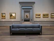 Ideia ótica agradável de salas do museu fotografia de stock