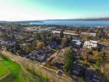 Ideia aérea da área de Kirkland Residential imagens de stock