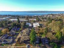 Ideia aérea da área de Kirkland Residential fotos de stock royalty free