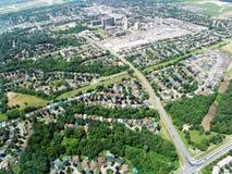 Ideia aérea da área residencial Fotos de Stock Royalty Free