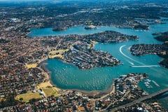 Ideia aérea da arquitetura da cidade Austrália Sydney imagens de stock royalty free
