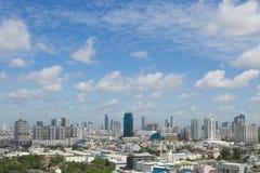 Ideia aérea da arquitetura da cidade de Banguecoque, fotos de stock