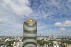 Ideia aérea da arquitetura da cidade de Banguecoque, Tailândia fotos de stock royalty free