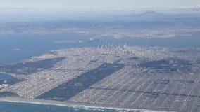 Ideia aérea da arquitetura da cidade do centro de San Francisco video estoque