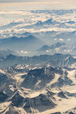 Ideia aérea da cordilheira em Leh, Ladakh, Índia Foto de Stock Royalty Free
