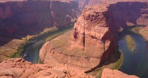 Ideia aérea da curvatura em ferradura no Arizona