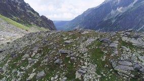 Ideia aérea da paisagem das montanhas vídeos de arquivo