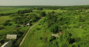 Ideia aérea da paisagem do país do russo filme