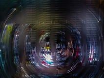 Ideia aérea da rotação artística de um parque de estacionamento no shopping em Rio de janeiro imagens de stock royalty free