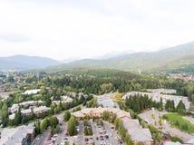 Ideia aérea da skyline do assobiador, Canadá Fotografia de Stock Royalty Free