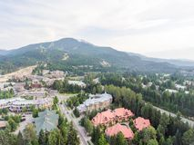 Ideia aérea da skyline do assobiador, Canadá Fotos de Stock Royalty Free