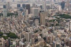 Ideia aérea da skyline do Tóquio imagens de stock royalty free