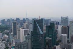 Ideia aérea da skyline do Tóquio Imagens de Stock