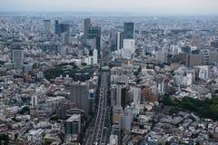 Ideia aérea da skyline do Tóquio Foto de Stock Royalty Free