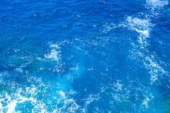 Ideia aérea da superfície do mar fotografia de stock