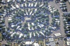 Ideia aérea de casas suburbanas do deserto em Tucson, o Arizona Imagens de Stock